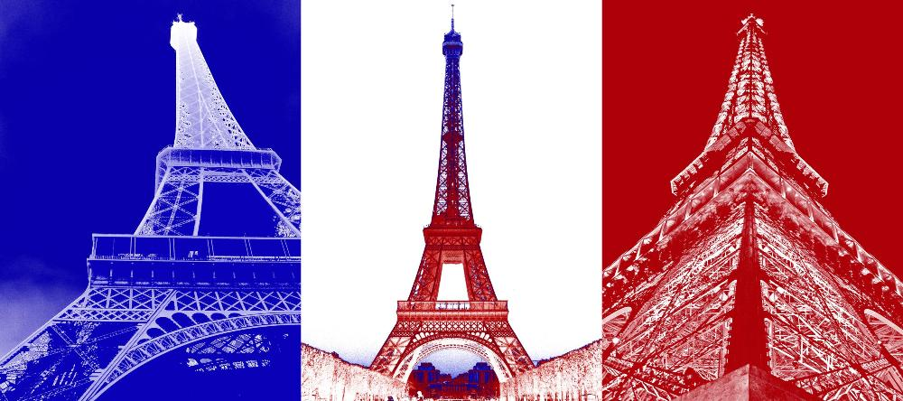 French Flag with Eiffel Towers on it